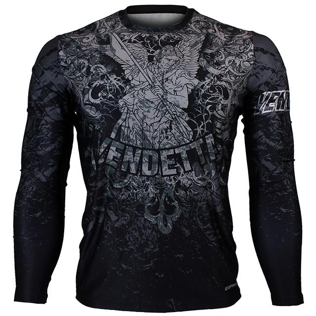 FR-155K 벤데타-블랙 VENDETTA-Black 풀그래픽 루즈핏 긴팔 티셔츠