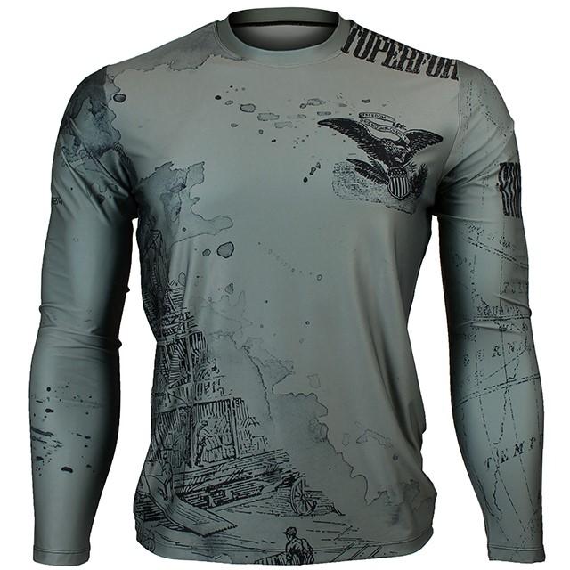 FR-147H 올드 와일드-카키 OLD WILD -Khaki 풀그래픽 루즈핏 긴팔 티셔츠