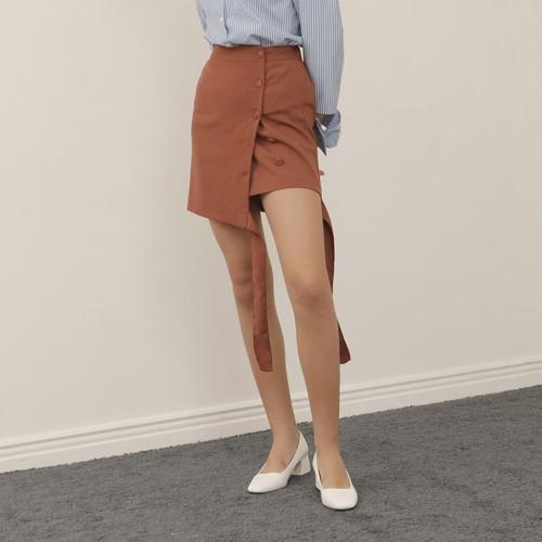 [엽페] [YUPPE] ribbon string skirt_brown