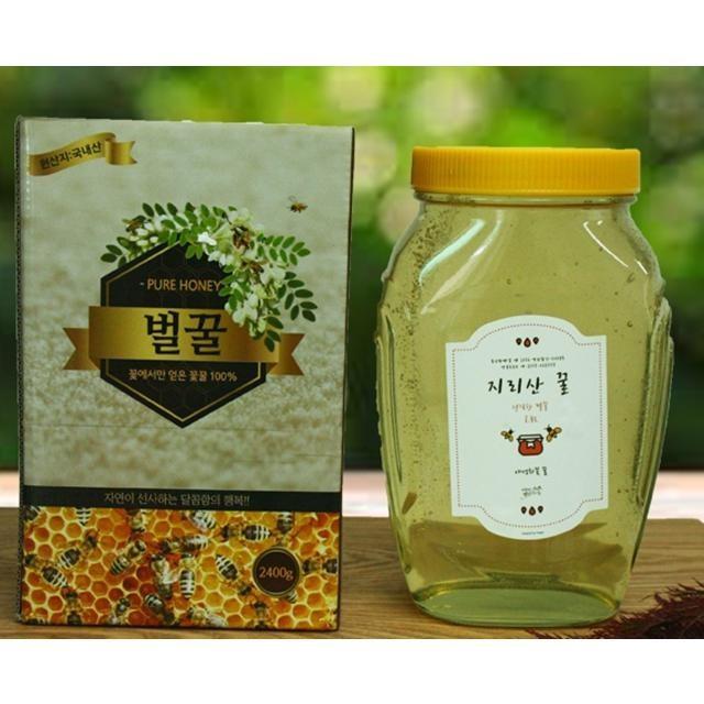 [푸드큐브] 산지직송 경남 함양 지리산 아카시아 꿀 2.4kg