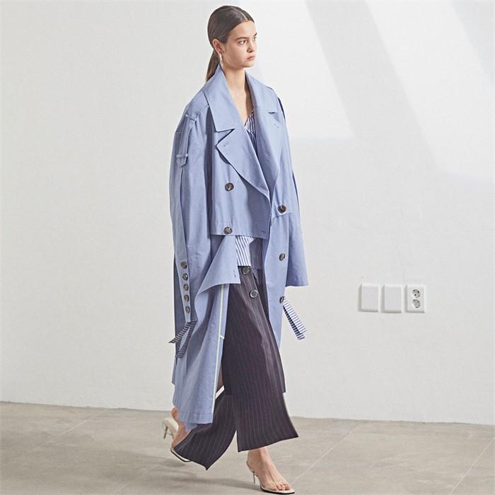 [MUSEE] Fieno Oversized Trench Coat _ Iris blue