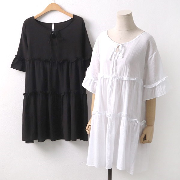 캉캉 절개 블라우스 빅사이즈 미시 여성 큰옷 의류