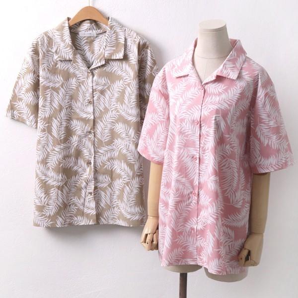 야자나무 반팔 남방 빅사이즈 미시 여성 큰옷 의류
