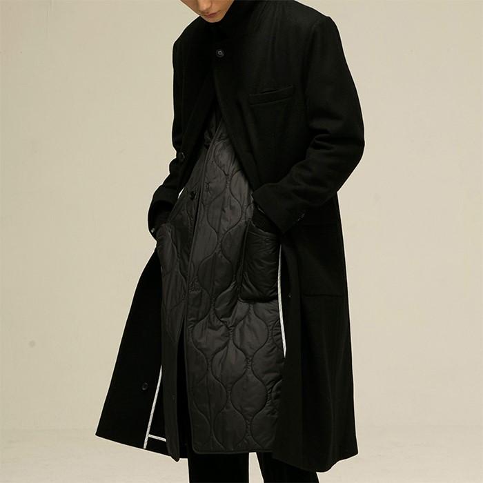 [노이어] [noirer]Classic Maxi Coat Black
