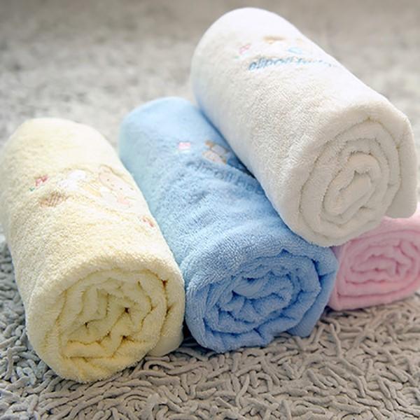 [엘리폴리] 무형광 신생아 아기 목욕 타올 수건 담요