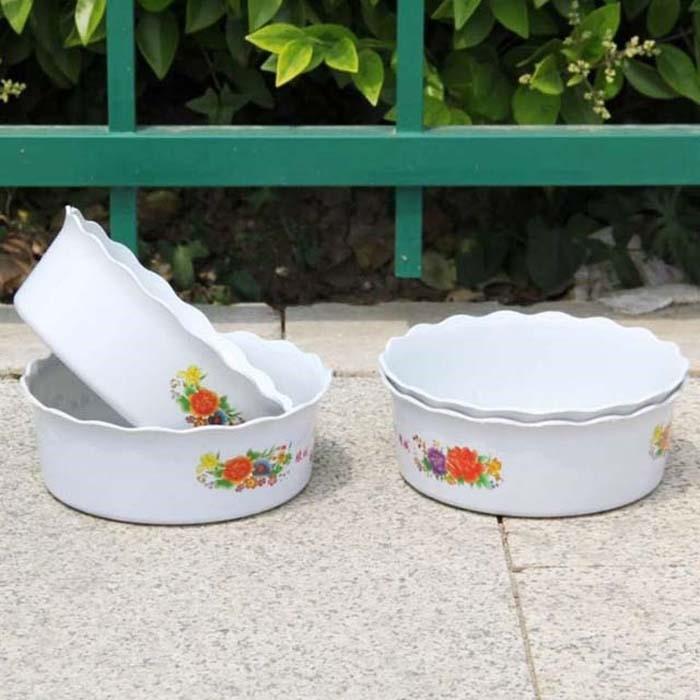 수반 연꽃 그릇 플라스틱 접시 화분