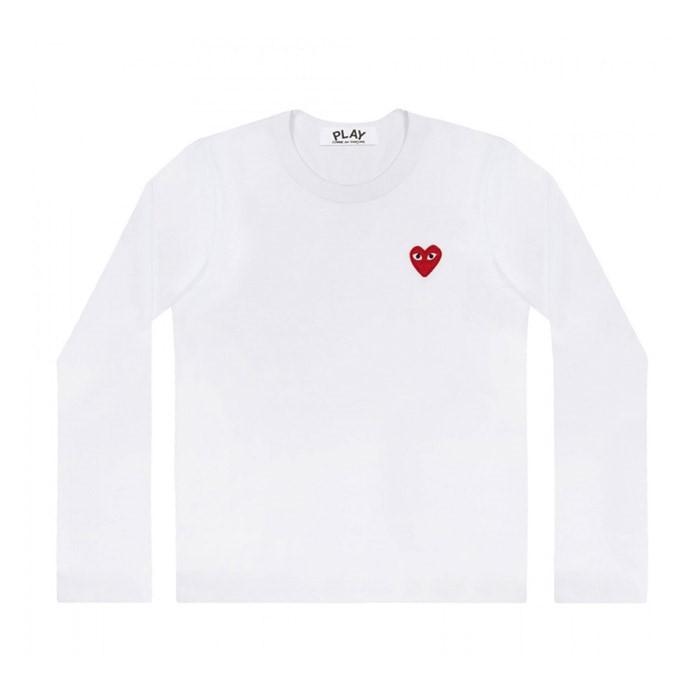 꼼데가르송 여성 티셔츠 화이트 (AZ-T117)