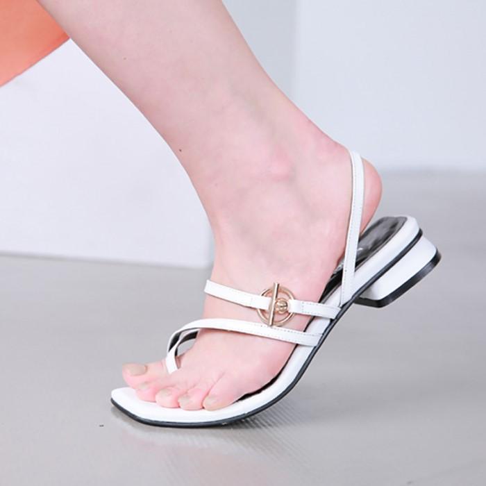 [메이엘듀]Flip Flop Strap Sandals-MD19SS1037 White