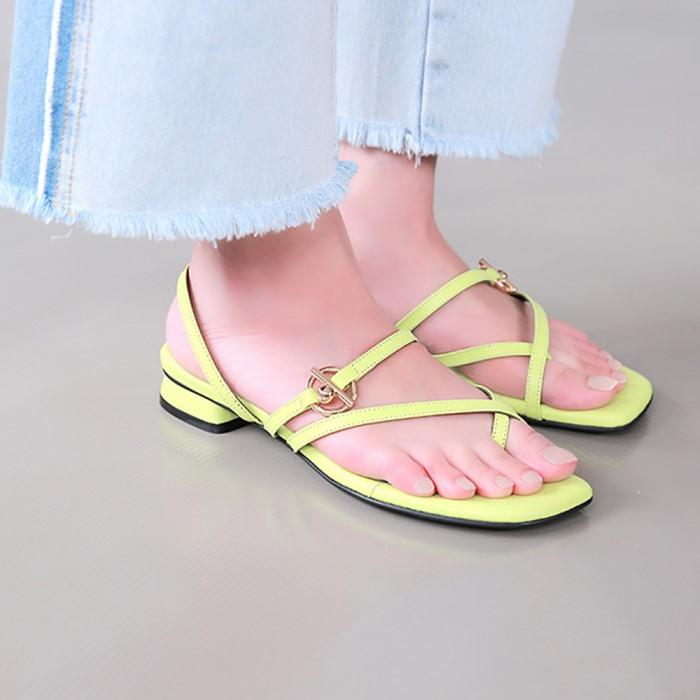 [메이엘듀]Flip Flop Strap Sandals-MD19SS1037 Neon-Yellow