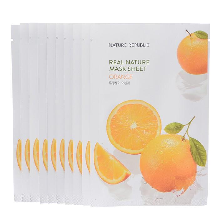 네이처리퍼블릭 NC02 오렌지 마스크(10장+10장) -