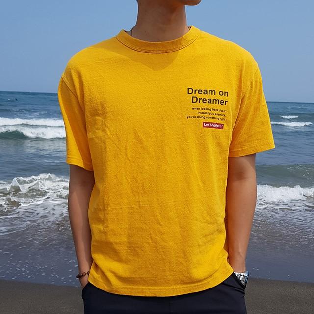 [쏘유마켓] 남녀공용 커플 프린팅 여름 반팔 드림 티셔츠