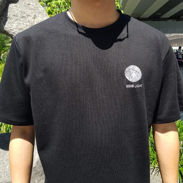 [쏘유마켓] 남녀공용 커플 프린팅 여름 반팔 달 티셔츠