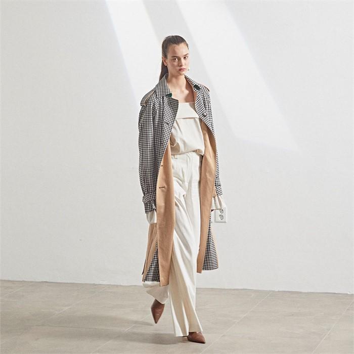 [10차 Pre-Order][MUSEE]Bruxelle Oversized Trench Coat_Gingham
