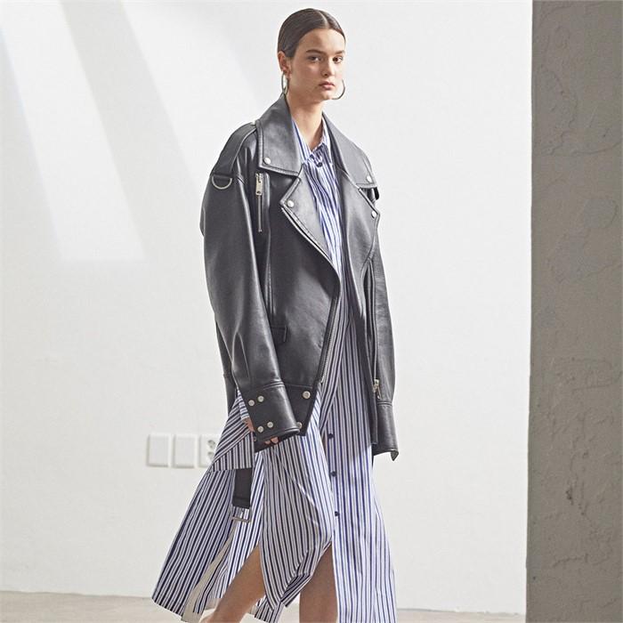 [6차 Pre-Order][MUSEE]Sleeve pointed leather jacket _Zet black