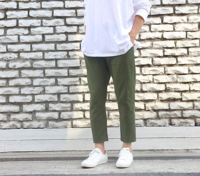 [방송상품/남녀공용] 9부 린넨 밴딩 팬츠(3color)