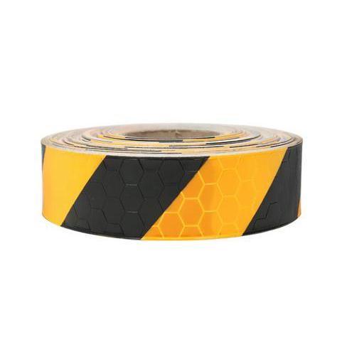 [에스지산업] 안전 반사 테이프 벌집무늬 5cm-45M 노랑 검정
