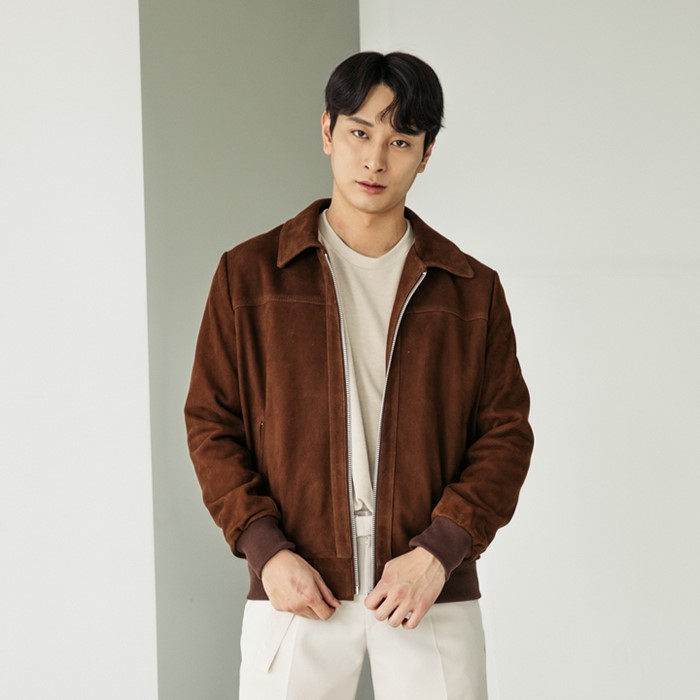 [스페로네] GOAT SUEDE LEATHER JACKET [BROWN]