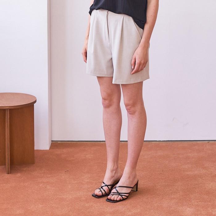 [엽페]  SOFT SHORT PANTS_BEIGE
