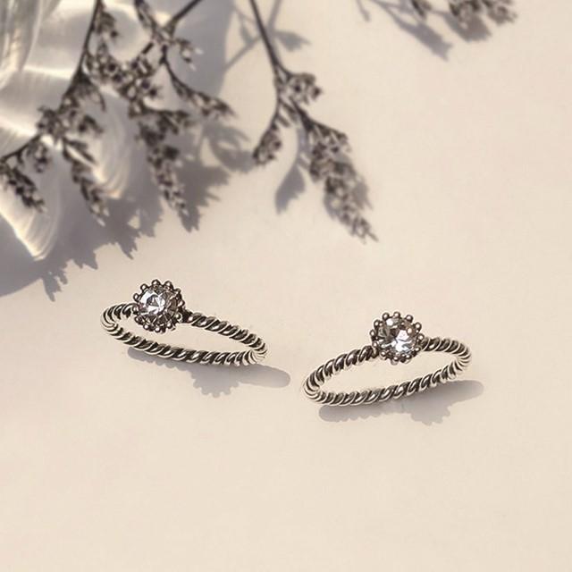 [제이블링] 유니크한 반지 추천! 큐빅 유화 꼬임반지