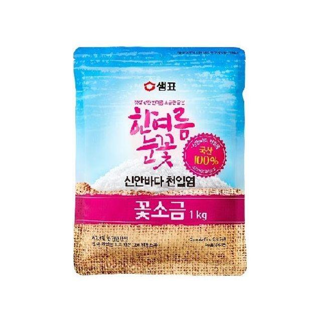 신안 천일염꽃소금(한여름눈꽃소금) 1kg x 5개