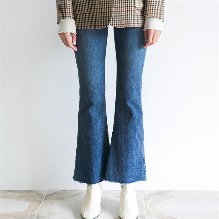 [ROSIER] 18fw cut out denim pants