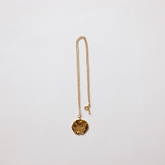 [비베] Oat Cubic Necklace (Gold)