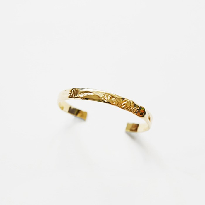 [비베] Grass Memory Bangle (Gold)