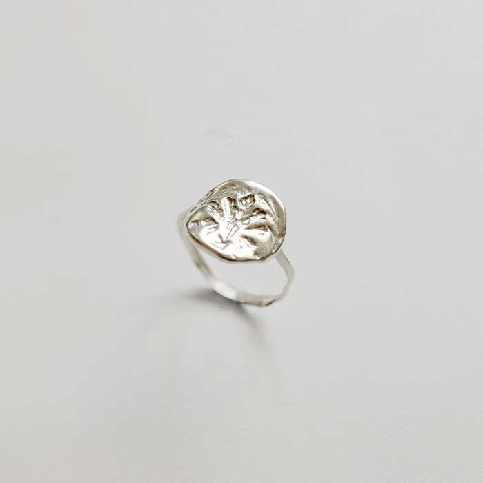 [비베] Oat Stamp Ring (Silver)