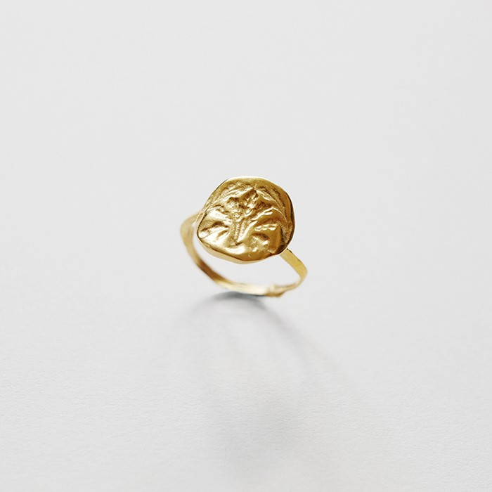[비베] Oat Stamp Ring (Gold)