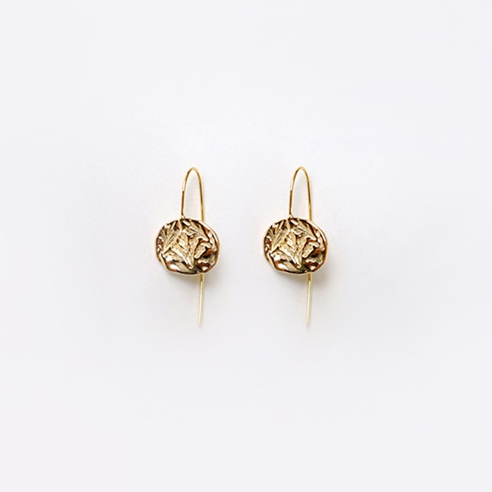 [비베] Oat Circle Earring (Gold)