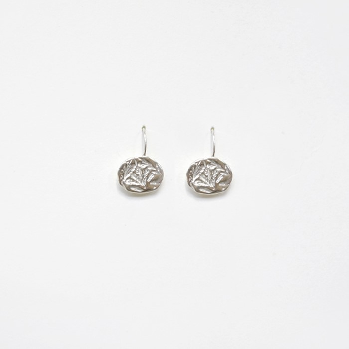 [비베] Oat Circle Earring (Silver)