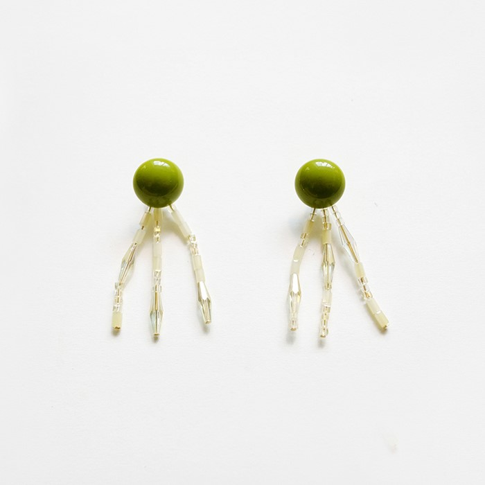 [비베] Greeny Sunshine Earring