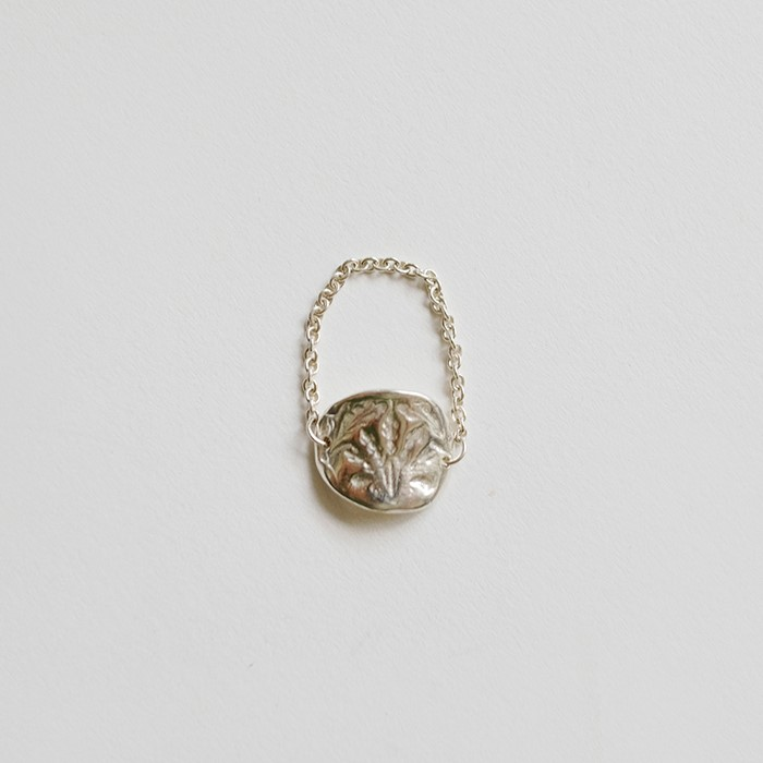 [비베] Oat Chain Ring  (Silver)