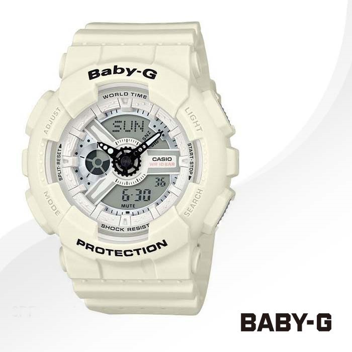 BABY-G 베이비지 BA-110PP-7A 정품 우레탄 밴드 시계