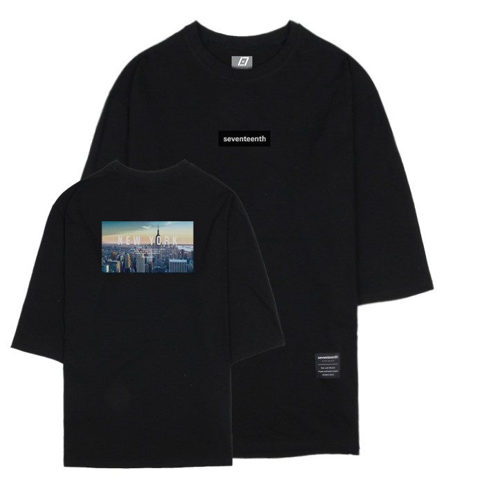 [SEVENTEENTH] CITY VIEW NEW YORK 7CUT TEE - BLACK