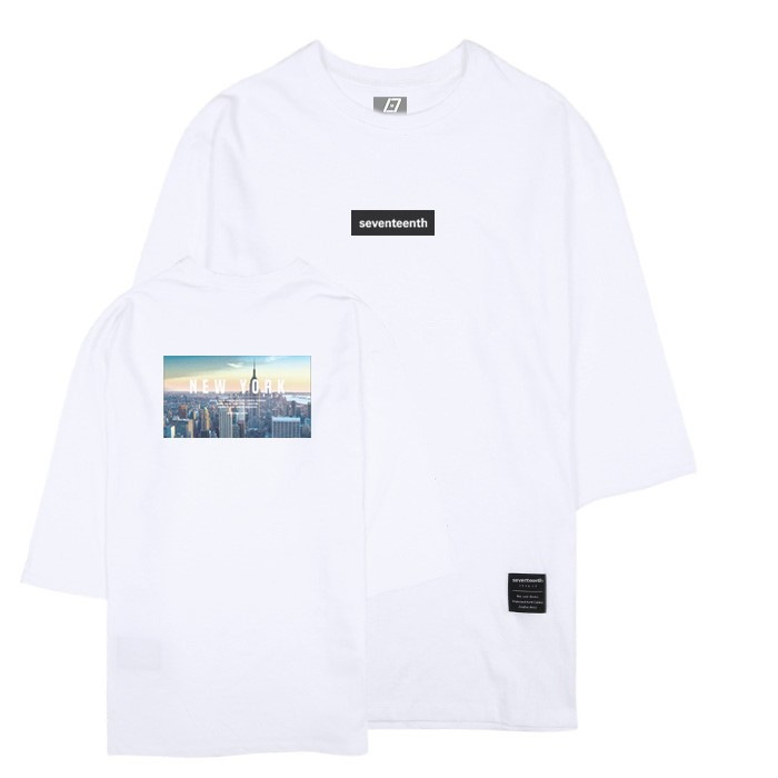 [SEVENTEENTH] CITY VIEW NEW YORK 7CUT TEE - WHITE