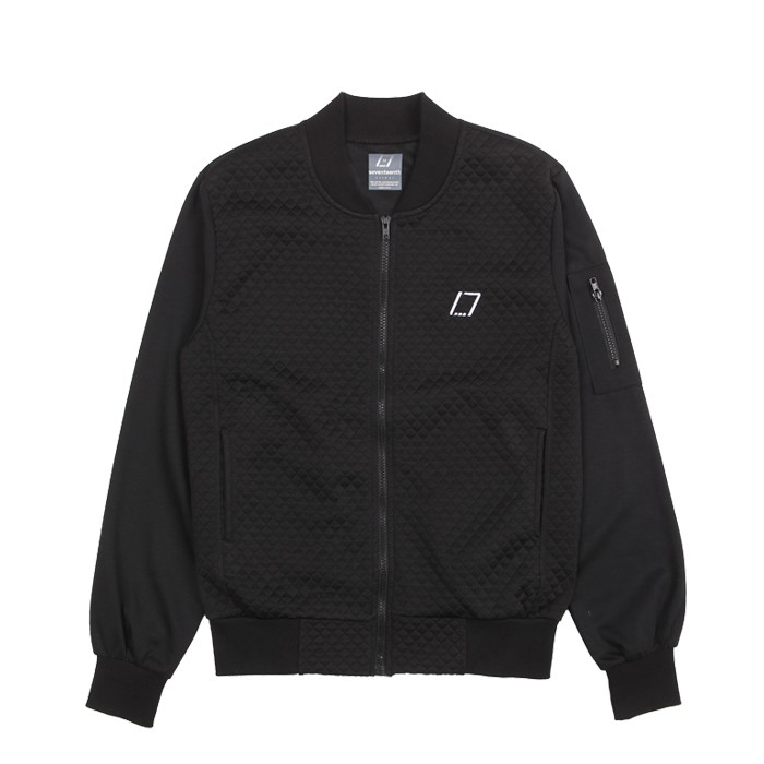 [SEVENTEENTH] DIAMOND BLOUSON JACKET - BLACK