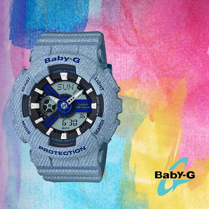 BABY-G 베이비 지 BA-110DE-2A2 여성용 우레탄 시계
