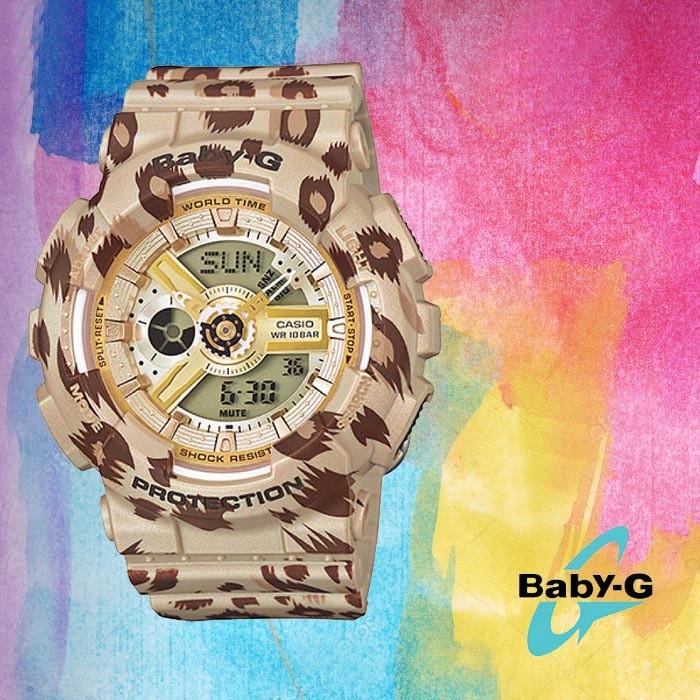 Baby-G 베이비 지 BA-110LP-9ADR여성용 우레탄 시계