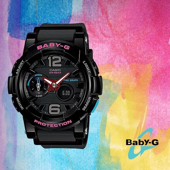 Baby-G 베이비 지BGA-180-1BDR여성용 우레탄 시계