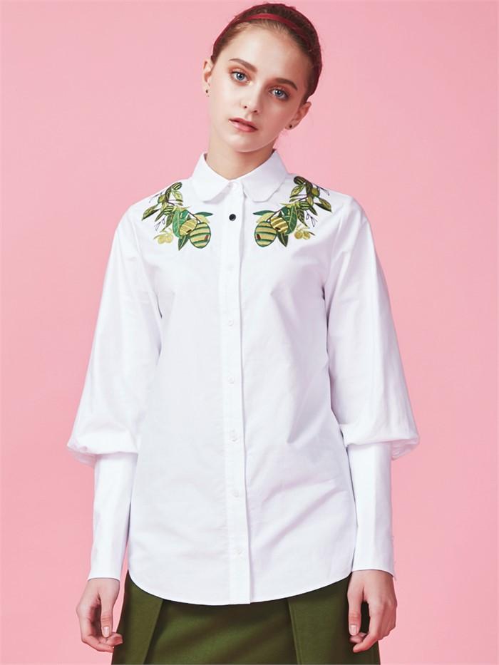 [아브라함케이한글] Olive white shirt