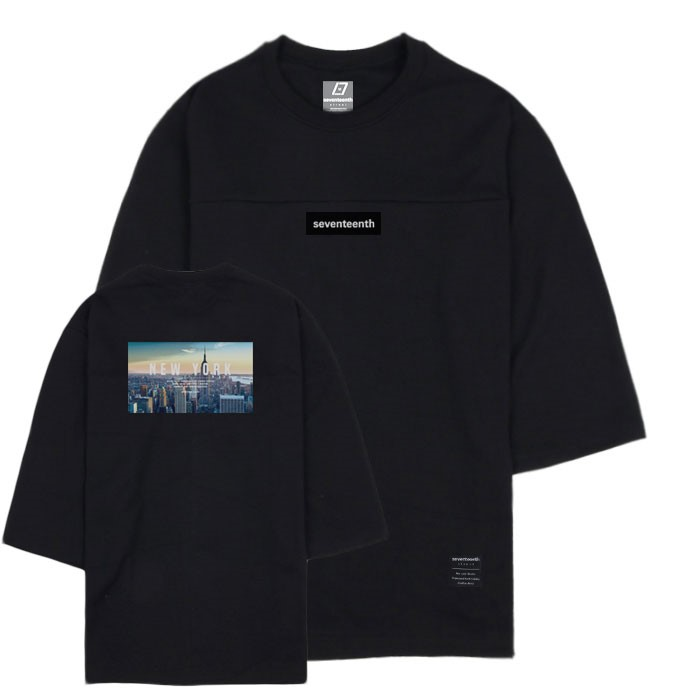 CITY VIEW NEW YORK 7CUT SWEATSHIRTS-BLACK