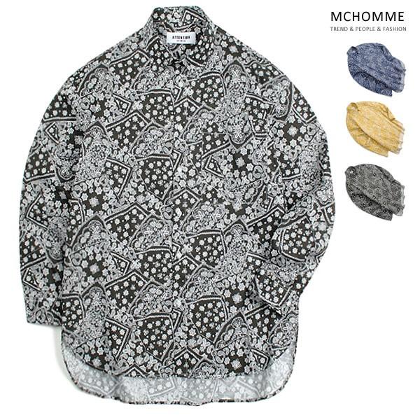 엠씨옴므 오버핏 싱어 패턴 남방 셔츠 AT18S103_B