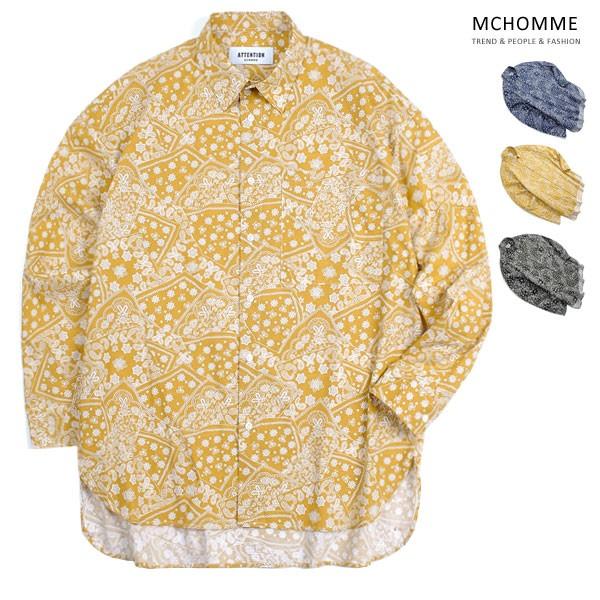 엠씨옴므 오버핏 싱어 패턴 남방 셔츠 AT18S103_MU