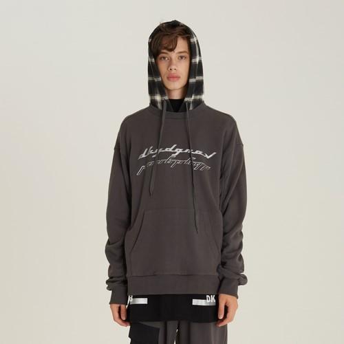 [디바이디그낙] Sleeve Shirring Check Hoody(GE)