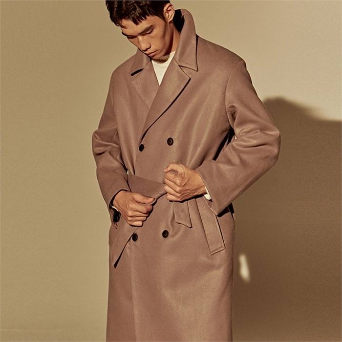 [DEANS] WOOL OVER-FIT DOUBLE COAT_COCOA
