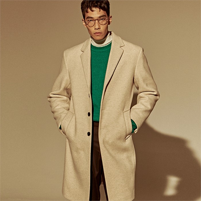 [DEANS] STAND WOOL SINGLE COAT_IVORY
