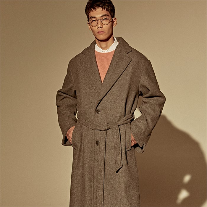 [DEANS] WOOL OVER SINGLE COAT_CHARCOAL