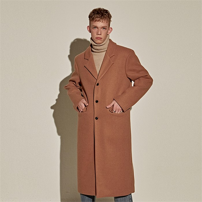 [YAN13] WOOL OVER STAND LONG COAT_CAMEL