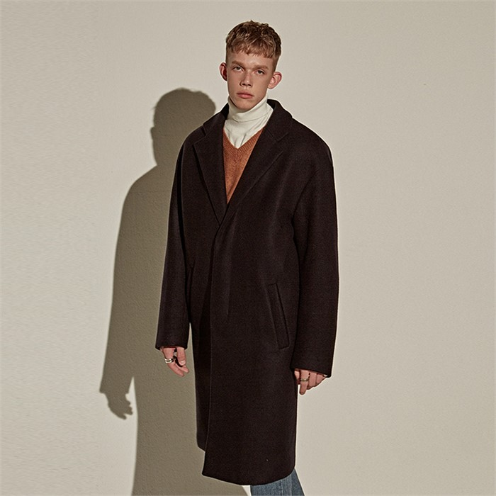 [YAN13] WOOL OVER MIDDLE COAT_NAVY